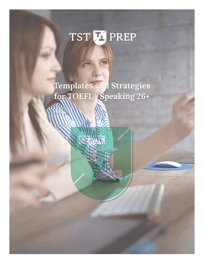 TOEFL Speaking 26+ Templates and Strategies Cover - Desktop