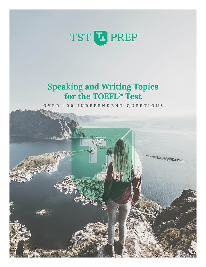 100 TOEFL Independent Speaking and Writing topics Cover - Tablet